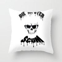 DIE HIPSTER SCUM Throw Pillow