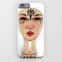 iPhone & iPod Case featuring Happy Halloween - White Version by The White Deer
