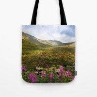 Fireweed Valley Alaska - Mountian Landscape Tote Bag