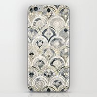 Monochrome Art Deco Marble Tiles iPhone & iPod Skin