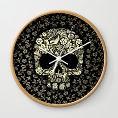 Sugar Skull flower pattern iPhone 4 4s 5 5s 5c, ipod, ipad, pillow case and tshirt Wall Clock