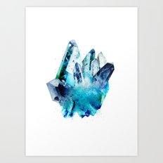 Watercolor Gemstone Art Print