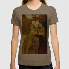 The Lovers Womens Fitted Tee Tri-Coffee SMALL
