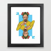 Walter King of Diamonds Framed Art Print