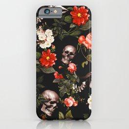 iPhone & iPod Case - Floral and Skull Pattern - Burcu Korkmazyurek