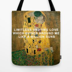 The Kiss Across the Universe Tote Bag