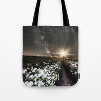 Galactic Lighthouse Tote Bag