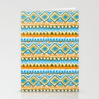 Desert Sunrise Ikat Stationery Cards