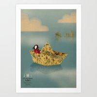 paris Art Prints featuring Paris by Sara Olmos - teconlene