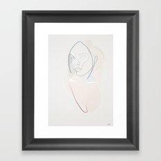 One line Santi Framed Art Print