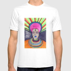queen etnic pop Mens Fitted Tee SMALL White