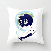 Retropolitan (cool) Throw Pillow