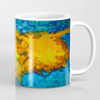 2 Cut Pixelated Sunflowe… Mug