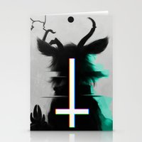 cross Stationery Cards featuring cross by s a Lieske