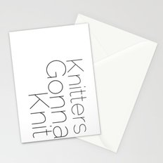 Knitters Gonna Knit Stationery Cards