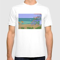 South Beach Mens Fitted Tee White SMALL