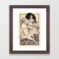 Come to Me Through the Veil Framed Art Print