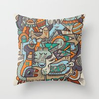 Punky Redux Throw Pillow