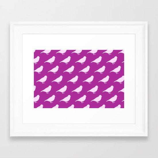 Purple Birds Framed Art Print
