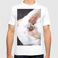 Clouds 3 Mens Fitted Tee White SMALL