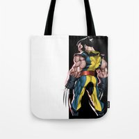 Tote Bag featuring Wolverine by Sheep-n-Wolves Clothing