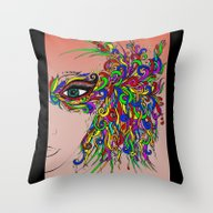 Madame Mask Throw Pillow