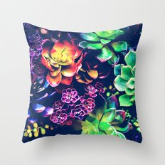 Colorful Plants  Throw Pillow