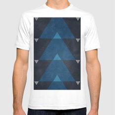 Greece Arrow Hues Mens Fitted Tee SMALL White
