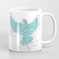 Bird Fly 3 - Aqua/Brown Mug