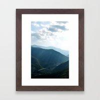 distant highway Framed Art Print