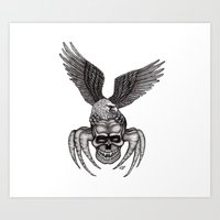 Spider-Skull and Eagle Art Print
