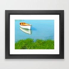 serene boat scene#4 Framed Art Print