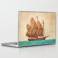 christmas Laptop & iPad Skins featuring Winged Odyssey by Terry Fan