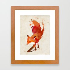 Vulpes vulpes Framed Art Print