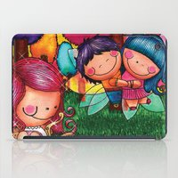 Love Angel - Fun, sweet, unique, creative and very colorful, original, acrylic children illustration iPad Case