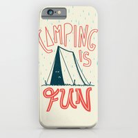 iPhone & iPod Case featuring Camping Is Fun by Natalie Smith