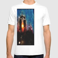 Above the Horizon (Remixed) Mens Fitted Tee SMALL White