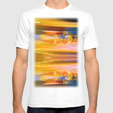 Night Light 131 - Roller Coaster White Mens Fitted Tee SMALL