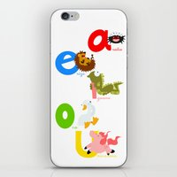 Vowels (spanish) iPhone & iPod Skin
