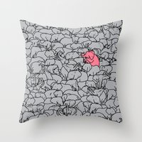 Word 2 the Herd v1 Throw Pillow