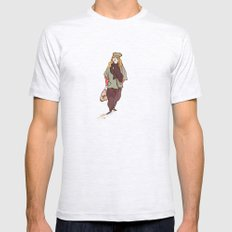 Girl and a Tuque Mens Fitted Tee Ash Grey SMALL