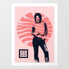 jean ad 2 Art Print