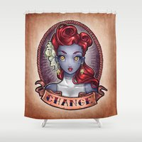 CHANGE Pinup Shower Curtain