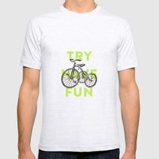 Try have fun SMALL Mens Fitted Tee Ash Grey