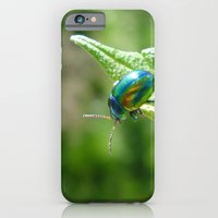 iPhone & iPod Case featuring Green beetle by Flysmile