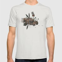 Bee Fighter Mens Fitted Tee Silver SMALL