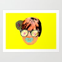 Digital baby lady Art Print
