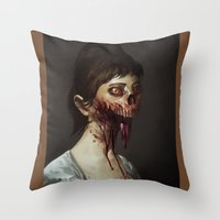 Old Zombie Portrait Throw Pillow