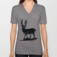 Universal Woodlands Deer Unisex V-Neck