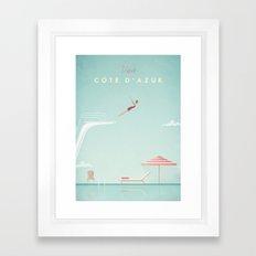 Vintage Côte D'Azur Tra… Framed Art Print